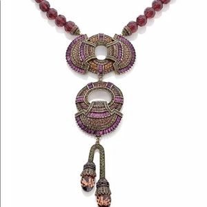 Marjorie's Majestic Crystal & Bead drop necklace